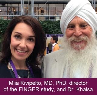Miia Kivipelto, MD, PhD, director of the FINGER study, and Dr. Khalsa