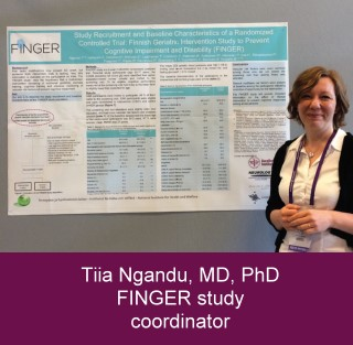 Tiia Ngandu, MD, PhD FINGER study coordinator